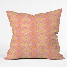 <strong>DENY Designs</strong> Cori Dantini Orange Ikat 4 Polyester Throw Pillow