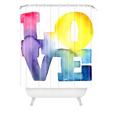 CMYKaren Love 4 Polyester Shower Curtain