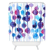 CMYKaren Polyester Abstract Watercolor Shower Curtain
