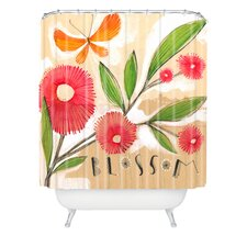 Cori Dantini Blossom 1 Quatrefoil Clock Polyester Shower Curtain