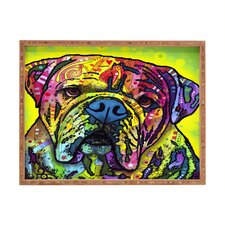 <strong>DENY Designs</strong> Dean Russo Hey Bulldog Rectangular Tray