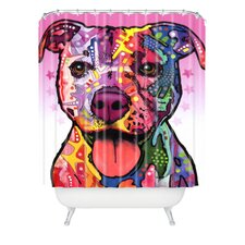 Dean Russo Woven Polyester Cherish the Pitbull Extra Long Shower Curtain