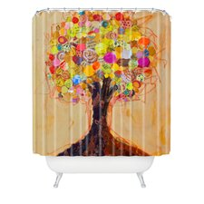 Elizabeth St Hilaire Nelson Woven Polyester Summer Tree Extra Long Shower Curtain
