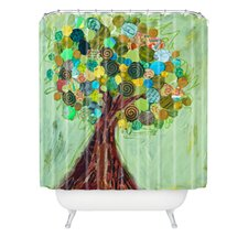 Elizabeth St Hilaire Nelson Woven Polyester Spring Tree Extra Long Shower Curtain