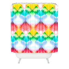 Deniz Ercelebi Woven Polyester Crystal Rainbow Shower Curtain