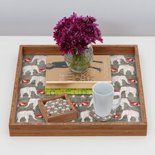 <strong>DENY Designs</strong> Holli Zollinger Elephant and Umbrella Coaster (Set of 4)