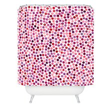 Garima Dhawan Polyester Watercolor Dots Berry Shower Curtain
