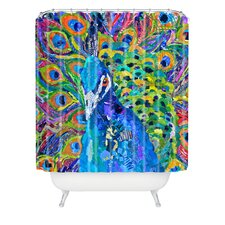 Elizabeth St Hilaire Nelson Cacophony of Color Woven Polyester Extra Long Shower Curtain