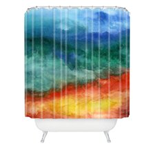 Jacqueline Maldonado Woven Polyester Leaving California Extra Long Shower Curtain