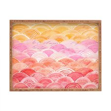 <strong>DENY Designs</strong> Cori Dantini Warm Spectrum Rainbow Rectangular Tray