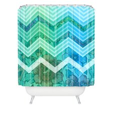 Gabi Azul Polyester Shower Curtain