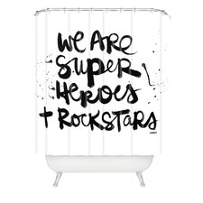 <strong>DENY Designs</strong> Kal Barteski Woven Polyester Superheroes Shower Curtain