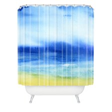 Jacqueline Maldonado Woven Polyester Sea Church Shower Curtain