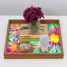<strong>DENY Designs</strong> Joy Laforme Floral Confetti Coaster (Set of 4)
