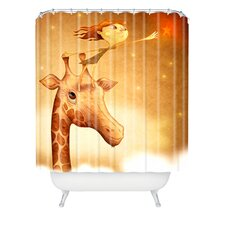 Jose Luis Guerrero Woven Polyester Star 1 Shower Curtain