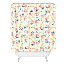 <strong>DENY Designs</strong> Jacqueline Maldonado Woven Polyester Watercolor Giraffe Shower Curtain
