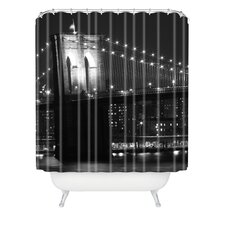 Leonidas Oxby Woven Polyester Brooklyn Bridge 125 Extra Long Shower Curtain