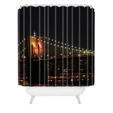 Leonidas Oxby Woven Polyester Brooklyn Bridge 2 Extra Long Shower Curtain