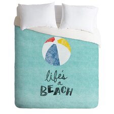 Nick Nelson Lightweight Lifes a Beach Duvet Cover