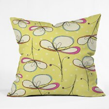 Rachael Taylor Floral Umbrellas Indoor / Outdoor Polyester Throw Pillow