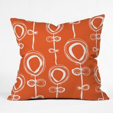 <strong>DENY Designs</strong> Rachael Taylor Contemporary Orange Woven Polyester Throw Pillow