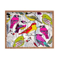 Mary Beth Freet Couture Home Birds Rectangular Tray