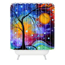 Madart Inc. Polyester Winter Sparkle Shower Curtain