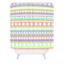 Romi Vega Polyester Pastel Pattern Shower Curtain