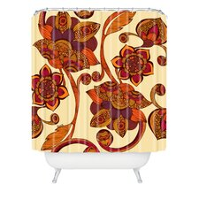 Valentina Ramos Woven Polyester Boho Flowers Shower Curtain