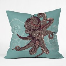 <strong>DENY Designs</strong> Valentina Ramos Octopus Bloom Indoor/Outdoor Polyester Throw Pillow