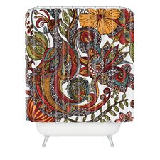 Valentina Ramos Woven Polyester Paradise Bird Shower Curtain