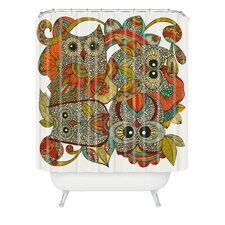 Valentina Ramos Polyester 4 Owls Shower Curtain