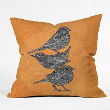 <strong>DENY Designs</strong> Valentina Ramos 3 Little Birds Polyester Throw Pillow
