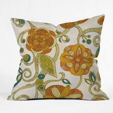 <strong>DENY Designs</strong> Valentina Ramos Flowers Polyester Throw Pillow