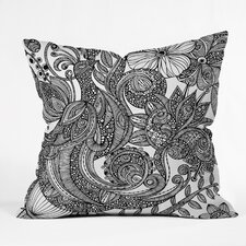 <strong>DENY Designs</strong> Valentina Ramos Bird In Flowers Black White Indoor/Outdoor Polyester Throw Pillow