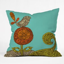 <strong>DENY Designs</strong> Valentina Ramos Bird in The Flower Polyester Throw Pillow