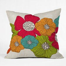 <strong>DENY Designs</strong> Valentina Ramos Flowers Indoor/Outdoor Polyester Throw Pillow