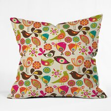 <strong>DENY Designs</strong> Valentina Ramos Little Birds Polyester Throw Pillow