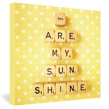 <strong>DENY Designs</strong> Happee Monkee You Are My Sunshine Gallery Wrapped Canvas