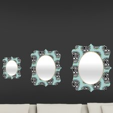 <strong>DENY Designs</strong> Andi Bird Sugar Skull Fun Quatrefoil Mirror