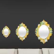 Cori Dantini Sun Burst Flowers Baroque Mirror