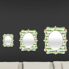 Andi Bird Alligator Love Quatrefoil Mirror