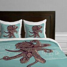 Valentina Ramos Octopus Bloom Microfiber Duvet Cover