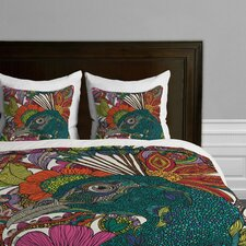 Valentina Ramos Alexis and the Flowers Microfiber Duvet Cover