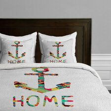 Bianca Green You Make Me Home Microfiber Duvet Cover