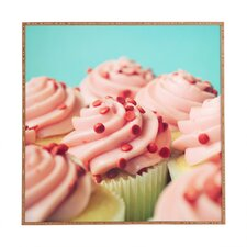 Strawberry Cupcakes by Allyson Johnson Framed Photographic Print Plaque