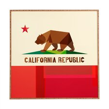 California by Fimbis Framed Graphic Art Plaque