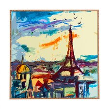 Paris Skies by Ginette Fine Art Plaque Framed Painting Print Plaque