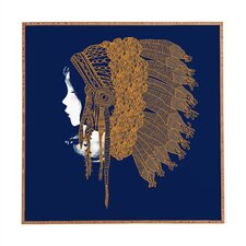 Native Headpiece by Budi Kwan Framed Graphic Art Plaque