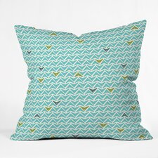 Heather Dutton Take Flight Aqua Outdoor Throw Pillow